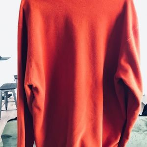 Falls Creek orange quarter zip sweater
